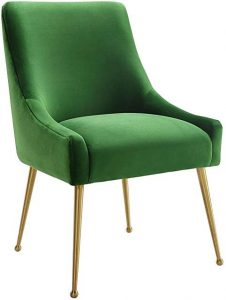 green velvet dining chair