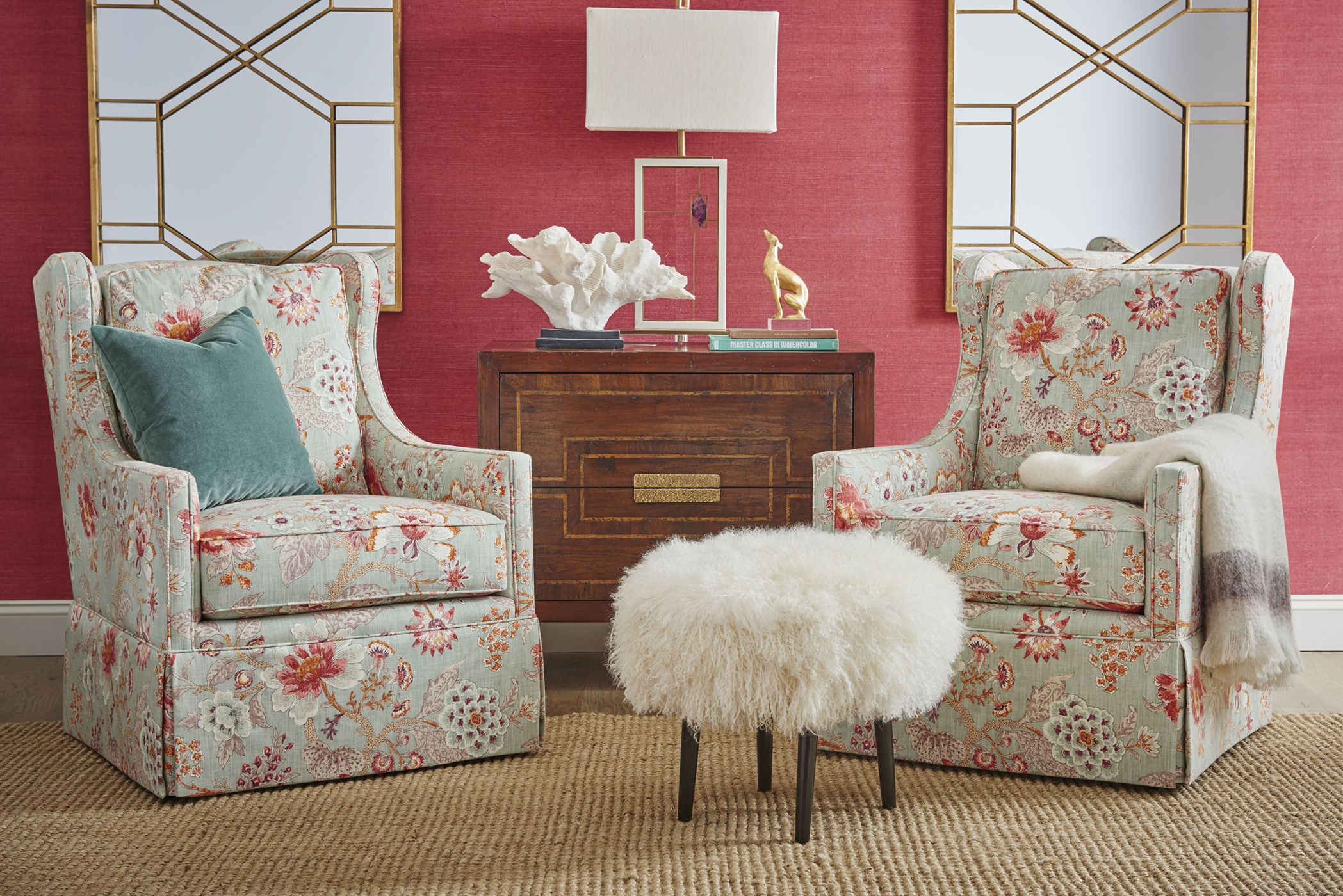 floral lunge chairs