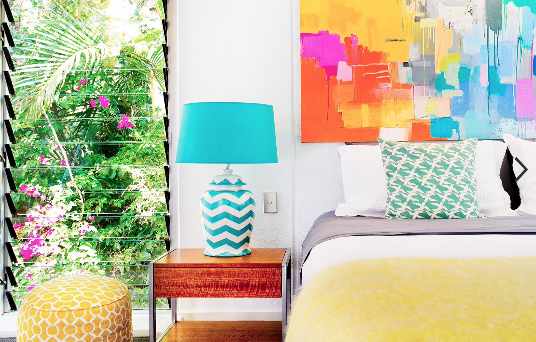 Spring colors bedroom