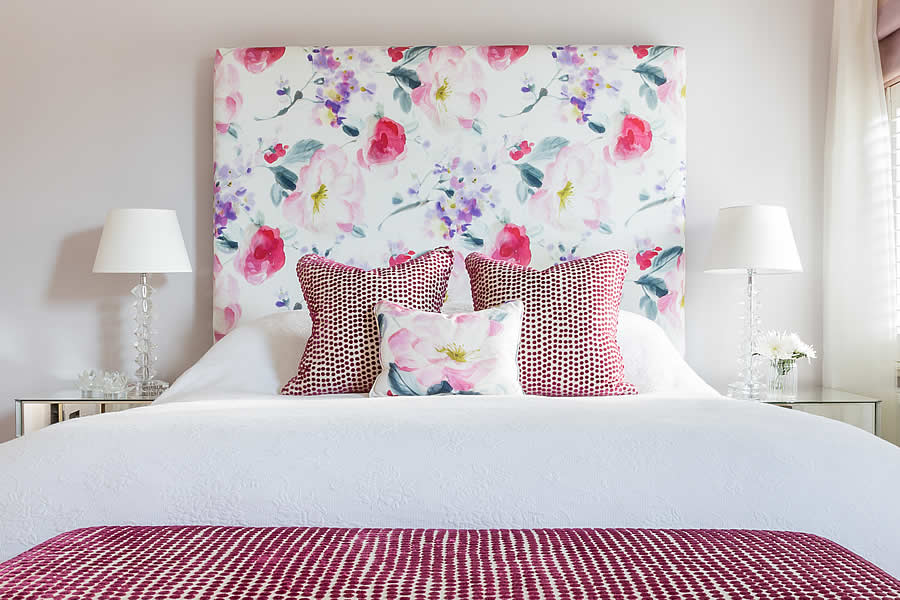 flower pattern headboard