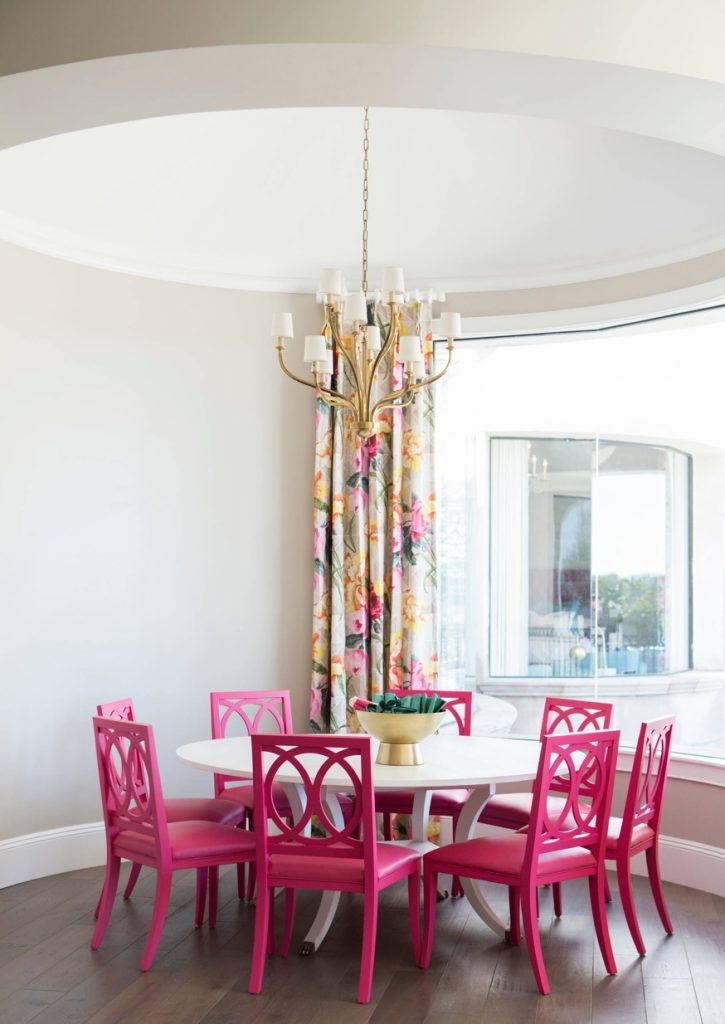 hot pink dining chairs