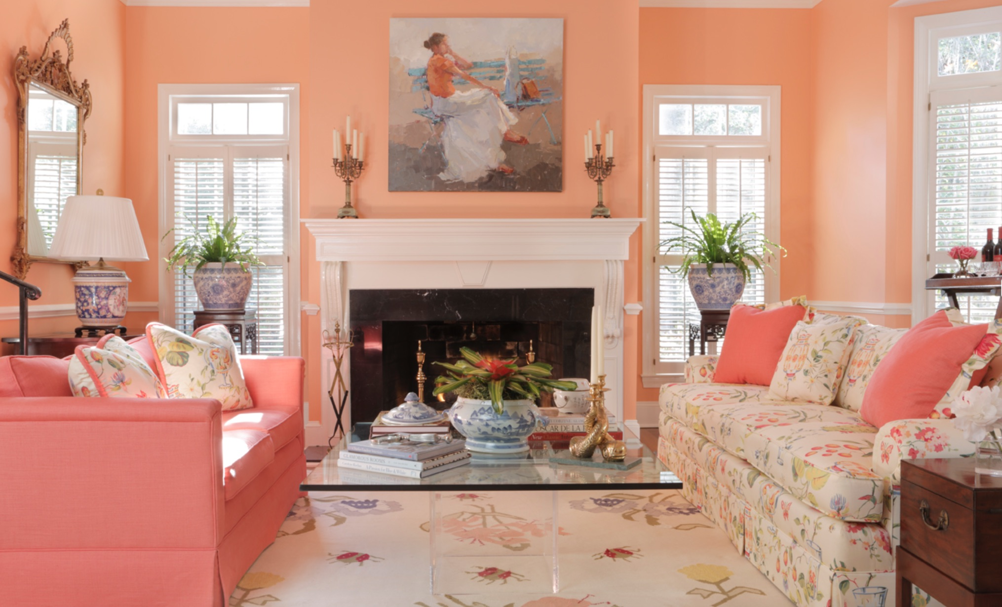 Peach sorbet living room